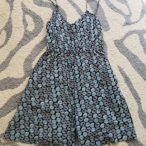 Urban Outfitters Ecote Blue Print Sundress
